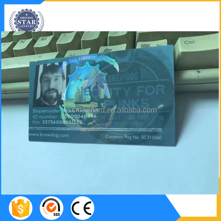 2017 New Premium Of Access Control Card Polish Id Hologram Overlay