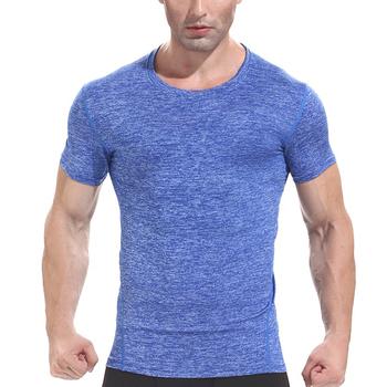 New Fashion Summer Men Clothing Short Sleeve T-shirt Quick Dry Breathable  Shirt Crossfit Bodybuilding 3595a492b4f1