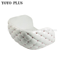 White Salon Equipment Ladies Salon Chairs Furniture Salon Styling Chairs