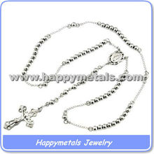 2015 Wholesale rosary beads rosary finished stainless steel rosary prayer(N5718)