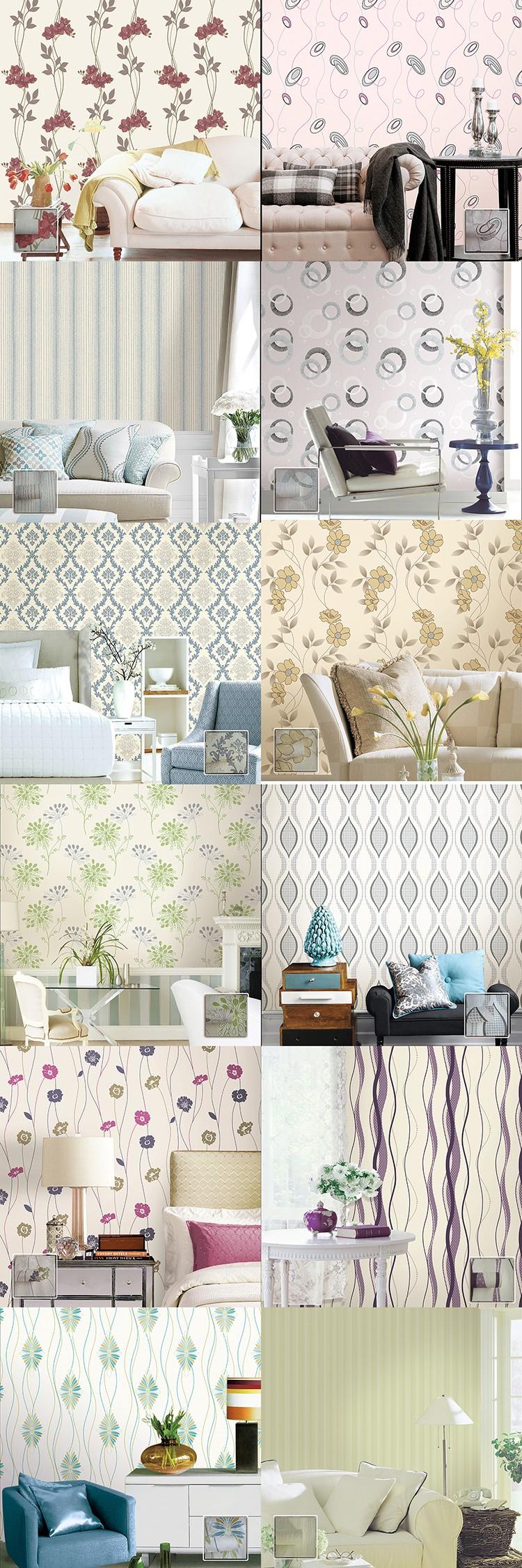 Roman Liburan Terbaru Desain Kustom Gaya Wallpaper Dinding Cafe
