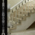 staircase transparency acrylic out door baluster stair crystal pillar
