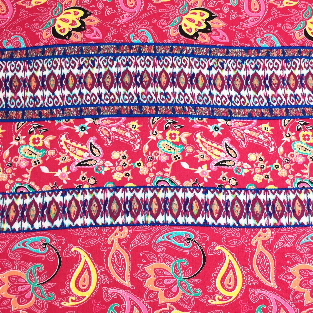 Customized printing viscose fabric woven 100% rayon fabric for fashion clothing