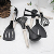 Hot sale! New material LFGB FDA nylon Kitchen Cooking Utensil Set with rice husk fiber handle
