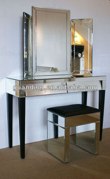 Professional Makeup Table Mirrored With Mirror Console Table