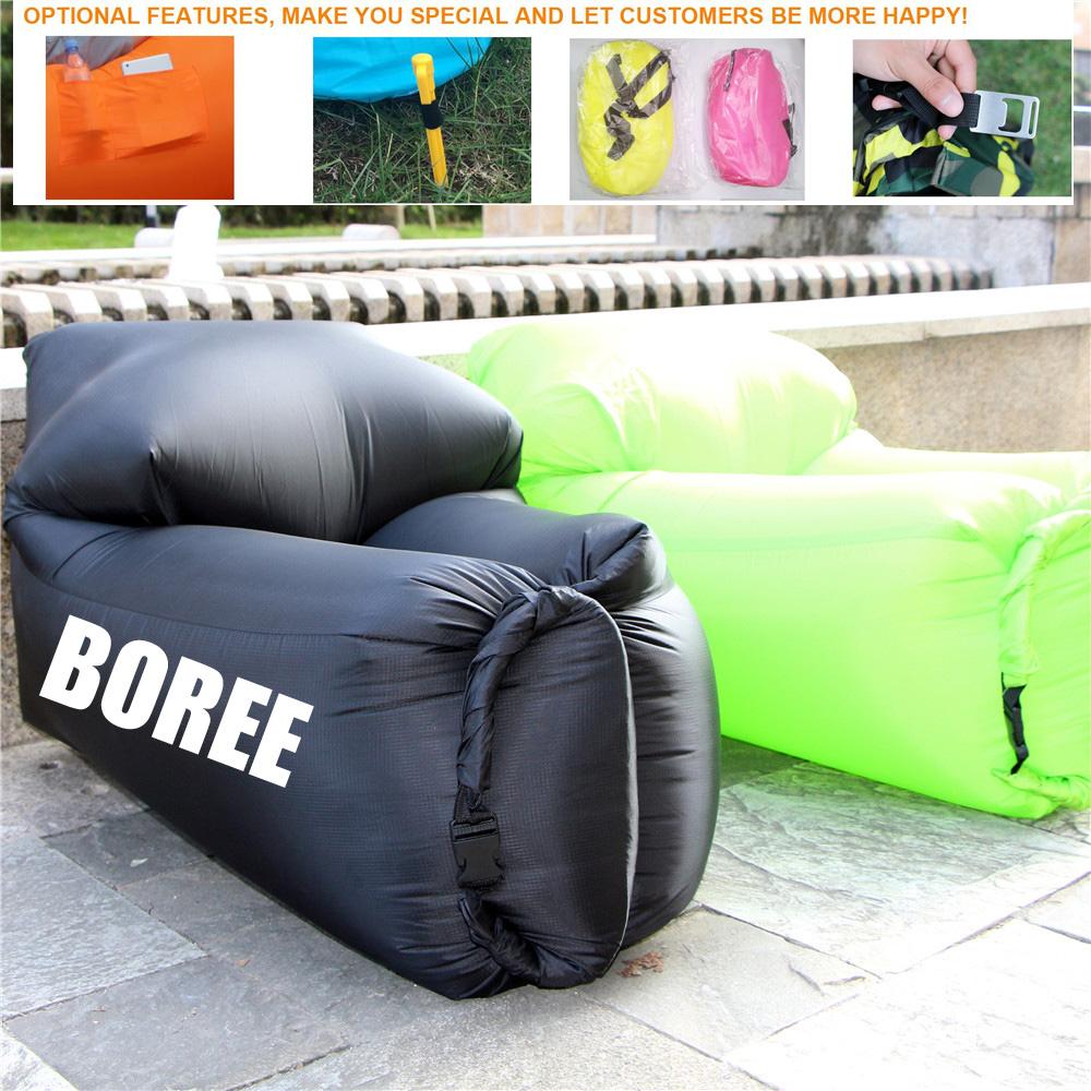 qualidade superior t nylon marca saco preguioso sof de ar inflvel camping multicolor ar