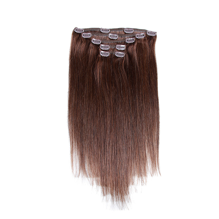 Xbl Clips In Full Caucasian Human Hair For Office Lady Clip On Hair