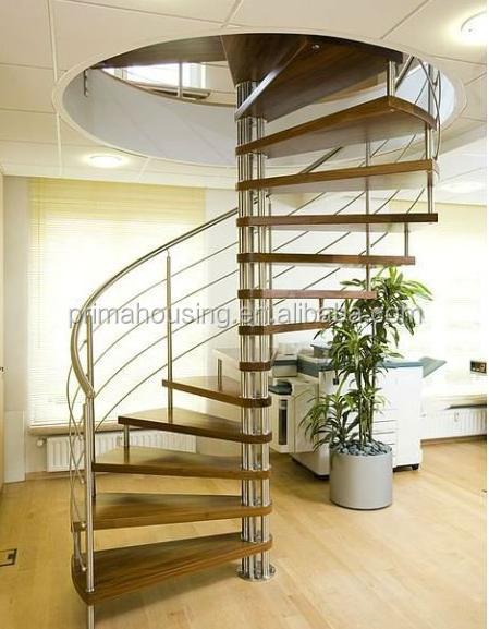 Fantastisch Innen Holz Wendeltreppe Mit Edelstahl-geländer( Pr- S20) - Buy  MU87