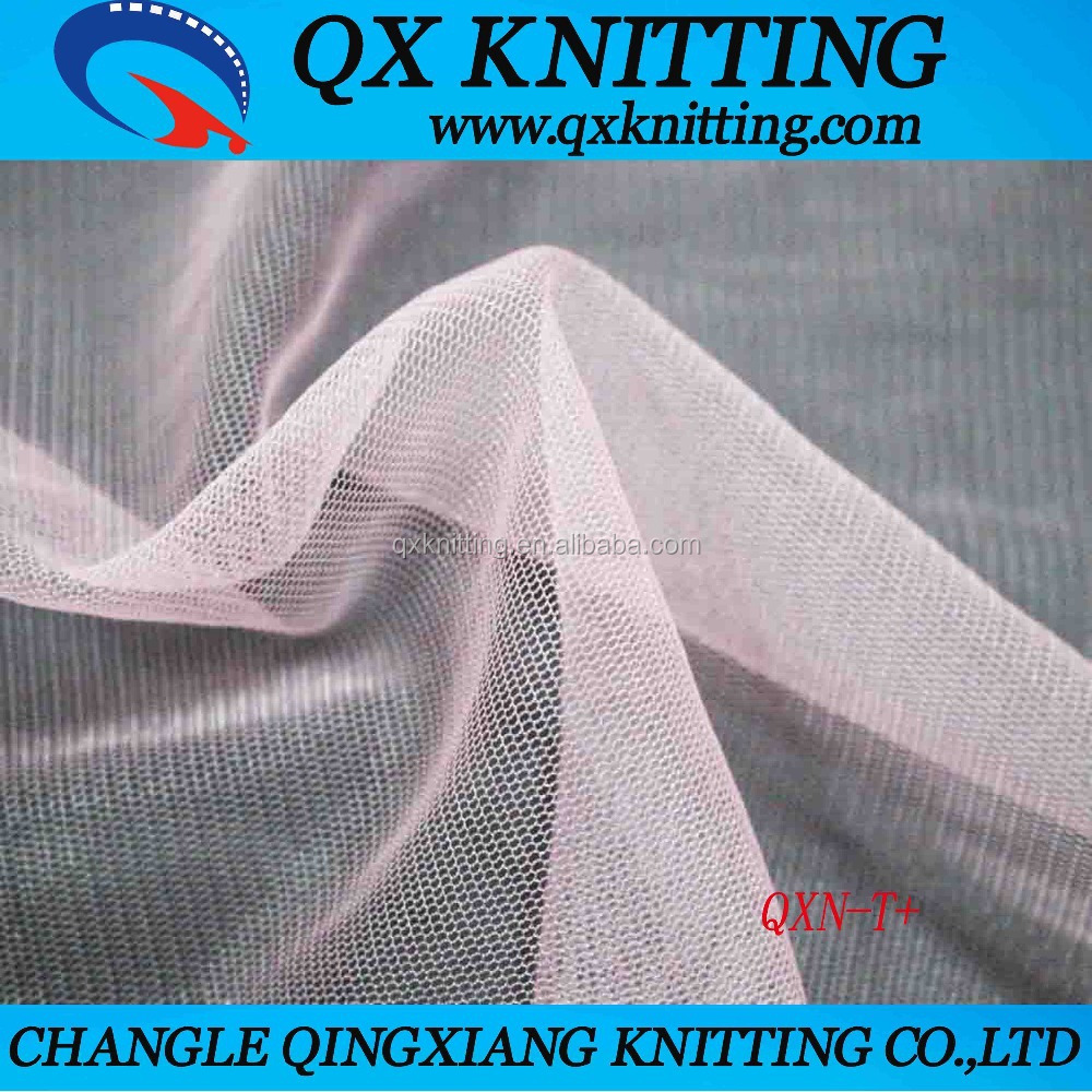 Factory Supply Good Quality Wholesale Price Knitted Organza 100% Nylon Soft Net Fabric