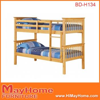 Latest Elegant King Single Size Children Wooden Double Decker Bed