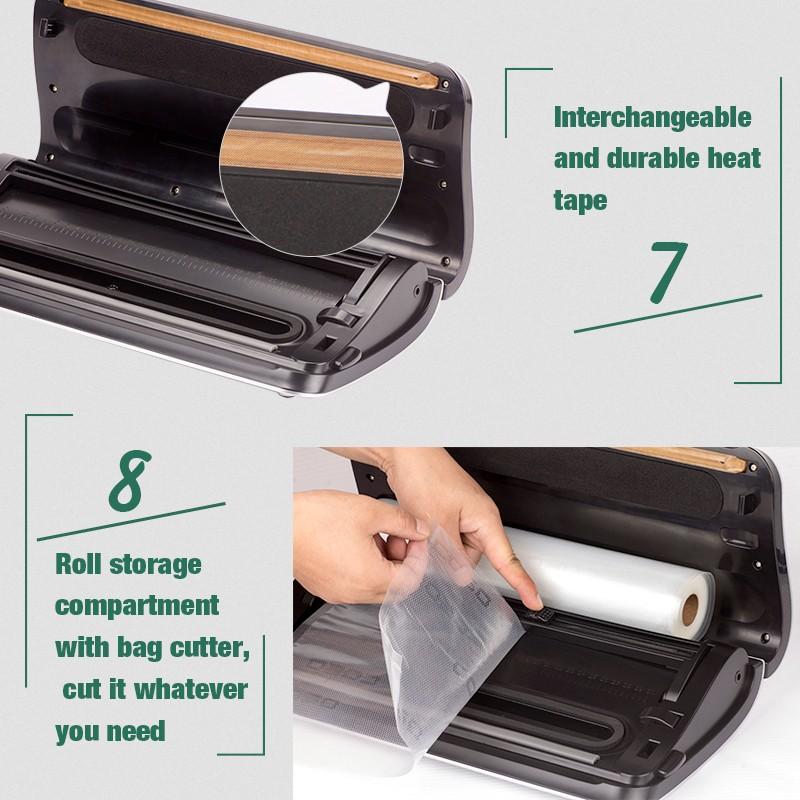 2017 Newest Design Protable Automatic Foodsaver Vacuum Sealer Packing Machine