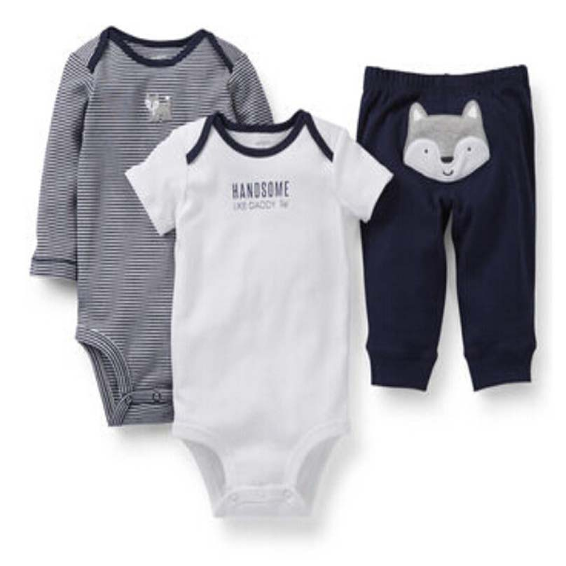78cbadc32 Buy Autumn style carter's baby newborn infant bodysuits children's  overalls clothing clothes for baby boys 3pics/set in Cheap Price on  m.alibaba.com