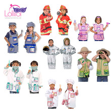 Kids cosplay party costume/halloween costumes chef role play costume, cooking dress up kits set,