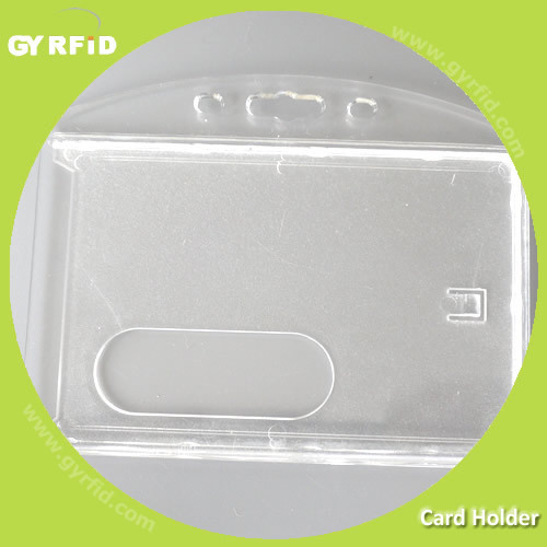 CH102 hard plastic business id card holder for staff access control ( GYRFID )