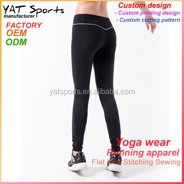 47b0d5519cd28 Online wholesale brush fleece fabric black pants womens dri fit running  tights