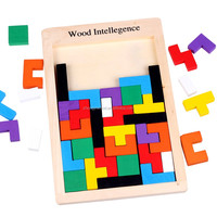 3D Wooden Puzzles Jigsaw Board Toys Tangram Brain Teaser Children Puzzle Toys Tetris Game Educational Kid Toys Gifts