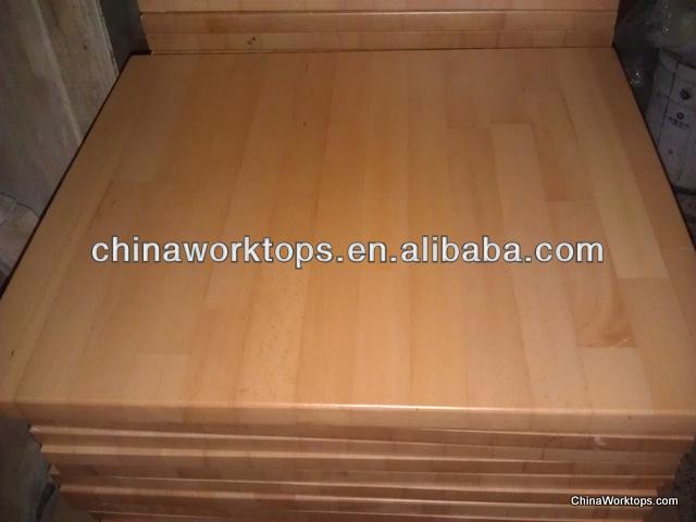 barras de bar encimeras de madera maciza lacado de mesa de haya superior