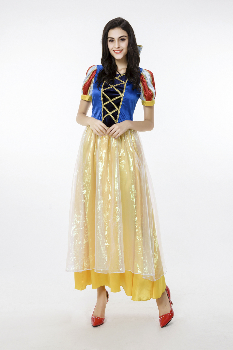 63ffe452ff Get Quotations · Free shipping Snow White Long Dress Ladies Fancy Dress  Fairytale Princess Womens Adult Costume