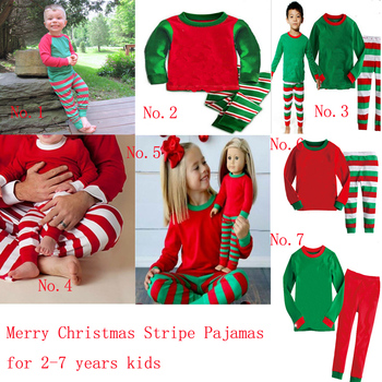 Kids Christmas Pajamas.Free Shipping Wholesale Cotton Kids Christmas Pajamas Monogrammed Christmas Pajamas Striped Kid Christmas Loungewear Buy Cotton Kids Christmas