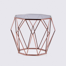 Stylish Metal Frame Delicate Living Room Furniture Sofa Side Table