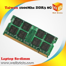 Computer accessories ETT chips ram memory sodimm ddr3 8gb 1600mhz for cheaper price