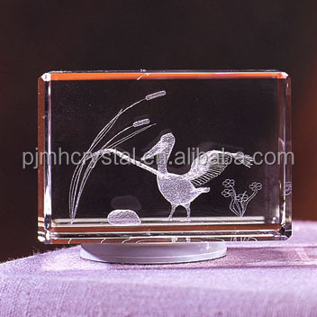 Clear Optical Crystal duck Cube For business Gifts MH-FT028