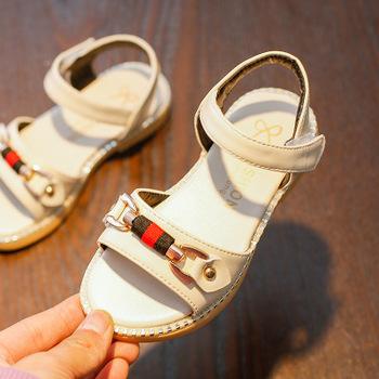 1183d448cf5 Children s sandals female 2018 summer new girls rivet fashion sandals  children slip baby Princess shoes