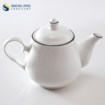 High End Dinnerware Bone China 28oz Black Rim Teapot & High End Dinnerware Bone China 28oz Black Rim Teapot - Buy 28oz ...