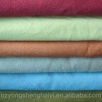 100% polyester faux micro suede fabric for sofa