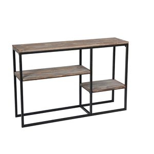 Wooden Metal Frame 3-Level Entrance Console Table