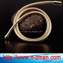 Gold Flexible Hose,Double Locked Gold Shower Hose,Stainless Steel Gold Hose