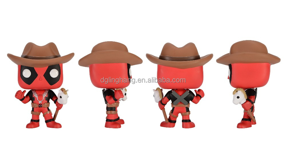 Oem Plastic Action Figure Funko Pop Toy- Marvel Deadpool - Cow Boy ...