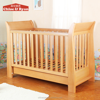 New product teak wood furniture bamboo baby crib cot