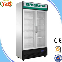 China made 220V 538L display cold drink refrigerator