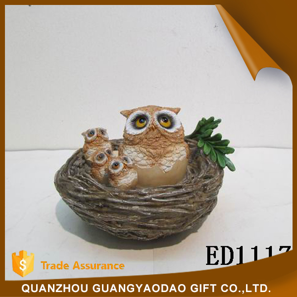 Eco-Friendly owls in the nest garden statues table decoration wedding decoration