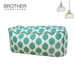 European style fashion Home Furniture large square ottoman pouf