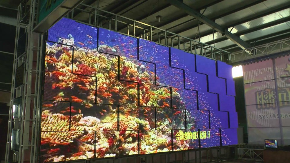 customized dynamic full color wall viewing display LED dancing screen