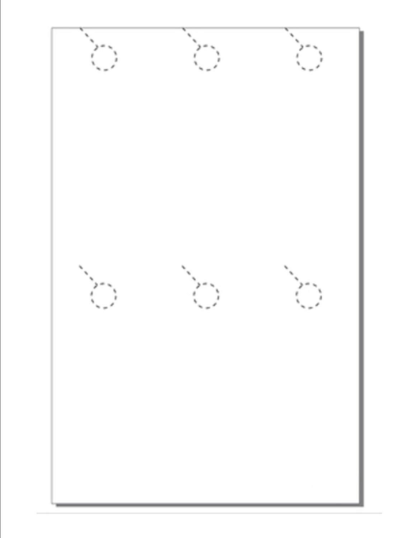 "Print-Ready Door Hanger (3-2/3"" x 8-1/2""), 6-UP on 17"" x 11"" White 67lb Vellum Paper - 250 Sheets (1500 Hangers)"