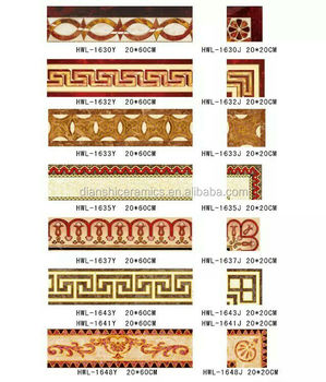 Decorative Wall Borders Golden Tile Border Tiles