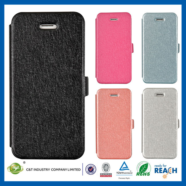 C&T Latest version wallet flip case for iphone 5s leather