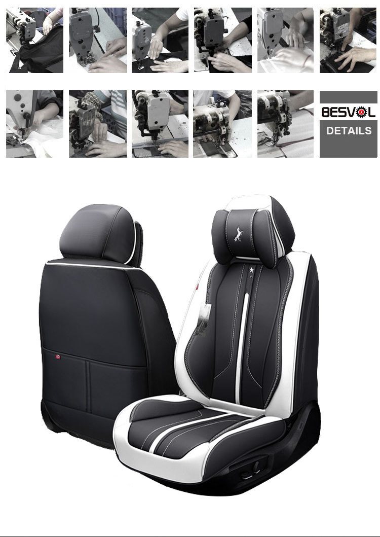 ZT-P-034 wholesale silver funky cowhide leather car seat cover for toyota corolla
