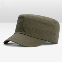 wholesale high quality stylish blank plain flat top military caps and hats/ army cap hat