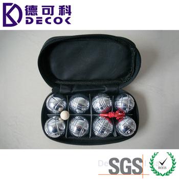 8 petanque ball stainless steel bocce ball set