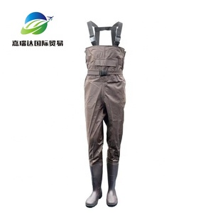 PVC chest Waders fishing clothes waterproof wader