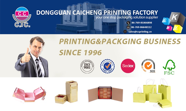 Custom printed cosmetic gift set packaging box