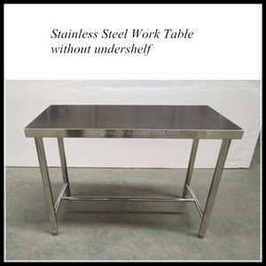 Commercial Kitchen Food Service Stainless Steel Work Table with Cross Bracing