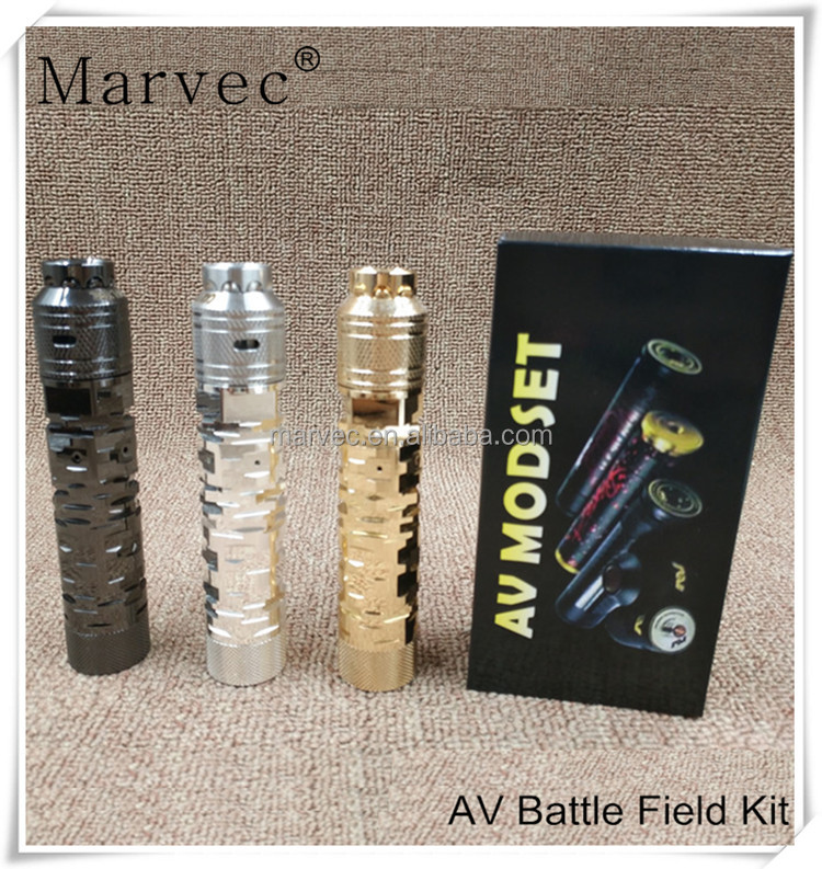 Electronic new release products Marvec Av able The Battle Field vape box mod kit amazon vs rda clone from alibaba express