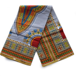 African traditional apparel material cotton printed dashiki wax fabric