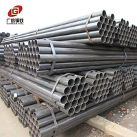 ASTM A53 grade b erw welded black steel pipe stk400