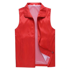 Double layer fabric advertising volunteers supermarket work vest